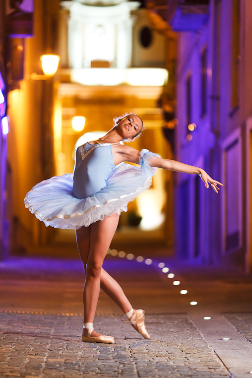 Ballerina.. at night!
