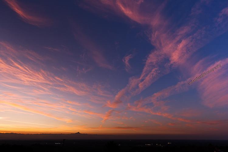 Un tramonto, tre foto diverse