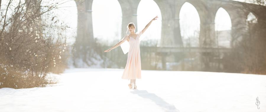 La ballerina nella neve