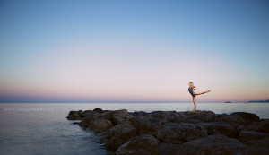 Ballerina al tramonto