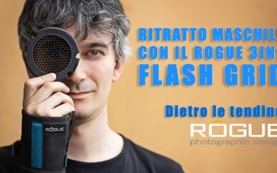 Dietro le tendine – Ritratto maschile con il Rogue 3in1 Flash Grid!
