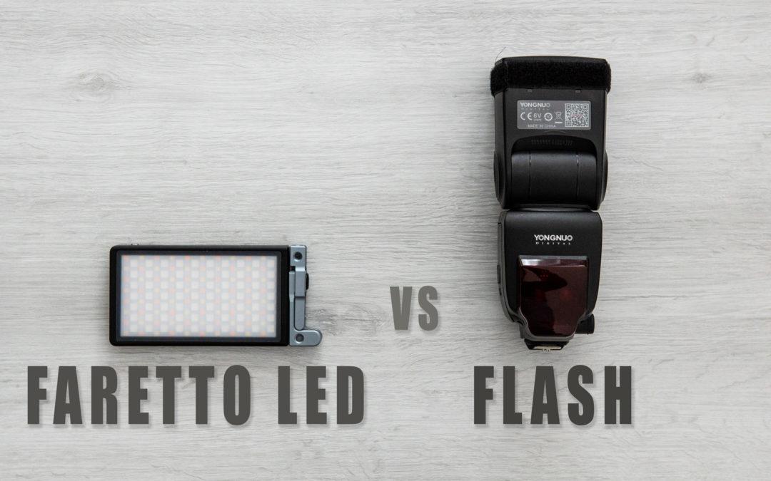 Faretto led vs flash