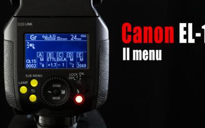 Flash Canon EL-1 – Il menu pulsante per pulsante